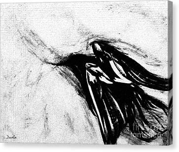 Crows  Fall Canvas Print by Antony Galbraith