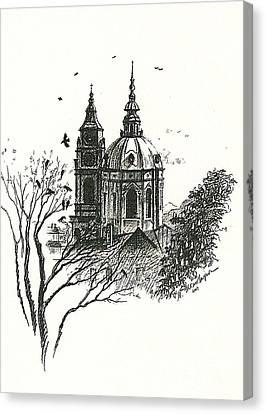 Crows Over Prague Canvas Print