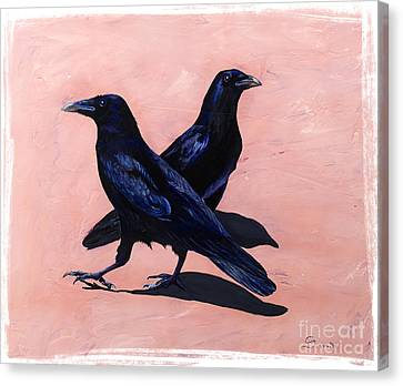 Crows Canvas Print by Sandi Baker