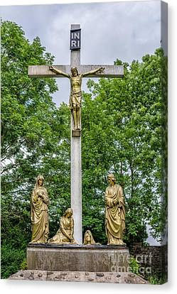 Crucified Canvas Print by Adrian Evans