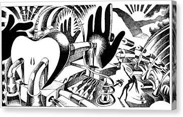Musica Canvas Print - Crucified By Apple by Ciro Pignalosa