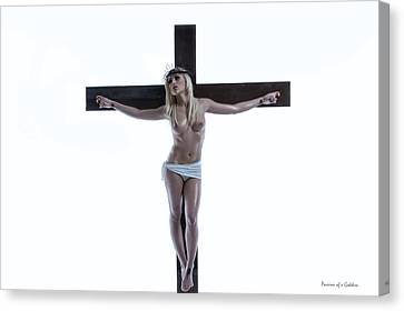Crucified Christa Canvas Print