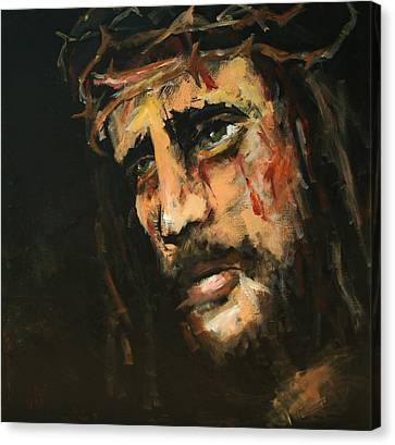 Crucified Jesus Canvas Print by Carole Foret