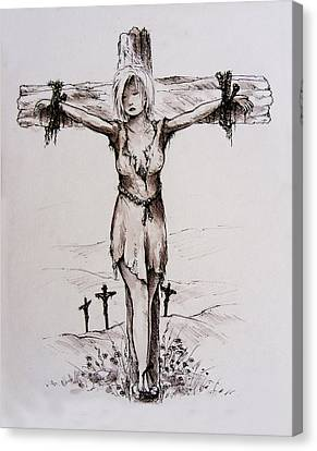 Crucified With Christ Canvas Print by Rachel Christine Nowicki
