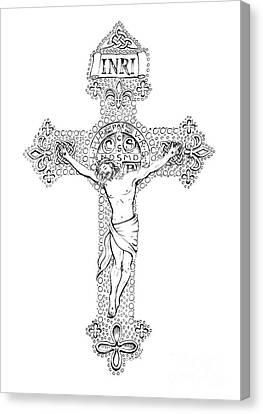 Crucifix Canvas Print by Jenny McLaughlin