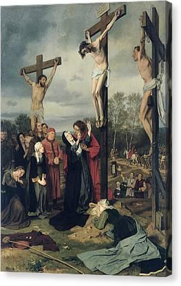 Crucifixion Canvas Print by Eduard Karl Franz von Gebhardt