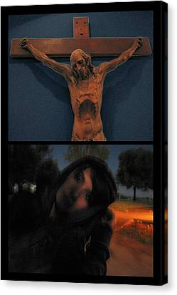 Johnson Canvas Print - Crucifixion by James W Johnson