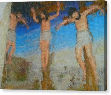 Crucifixion Canvas Print by Mike La Muerte Giuliani