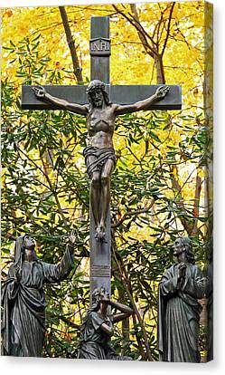Crucifixion Canvas Print by Mitch Cat