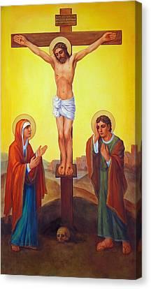 Crucifixion Of Jesus Christ - Golgotha  Canvas Print by Svitozar Nenyuk
