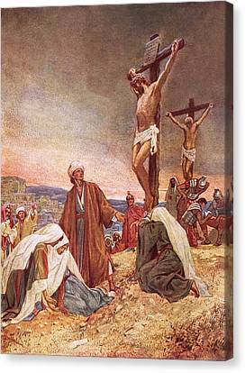 Crucifixion Canvas Print by William Brassey Hole