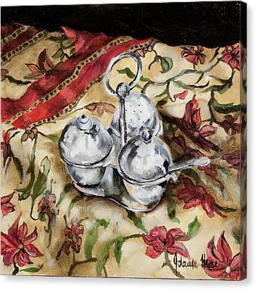 Cruet Canvas Print by Jolante Hesse