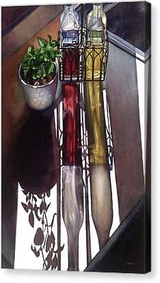 Cruets Canvas Print by Rosanne Wolfe