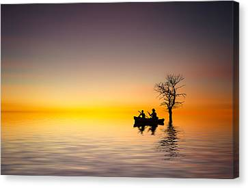 Canvas Print featuring the pyrography Cruise by Bess Hamiti