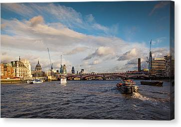 Londoners Canvas Print - Cruise On The Thames by Maggie McCall