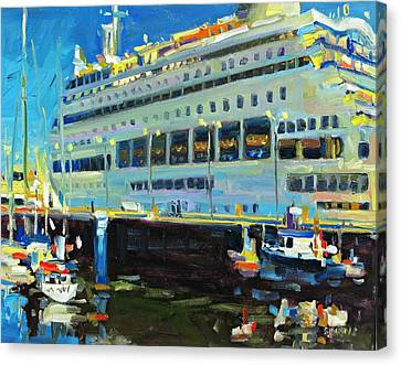 Cruise Ship Canvas Print by Brian Simons
