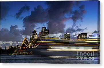 Cruise Ship Sydney Harbour Canvas Print
