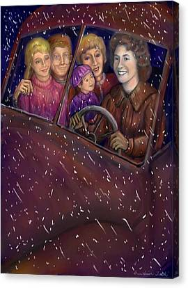 Cruisin' With The Big Kids Canvas Print by Dawn Senior-Trask