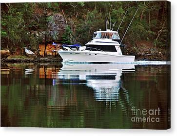 Canvas Print featuring the photograph Cruising The River By Kaye Menner by Kaye Menner