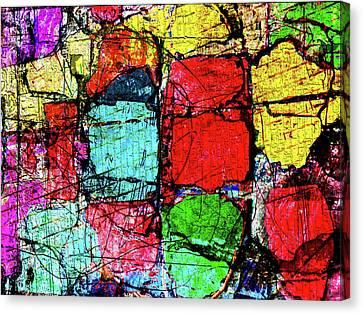 Crumbling Stone Wall Canvas Print