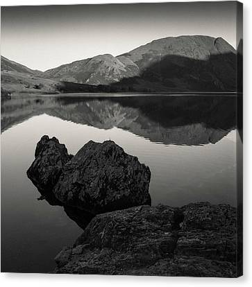 Crummock Water Reflection Canvas Print by Dave Bowman