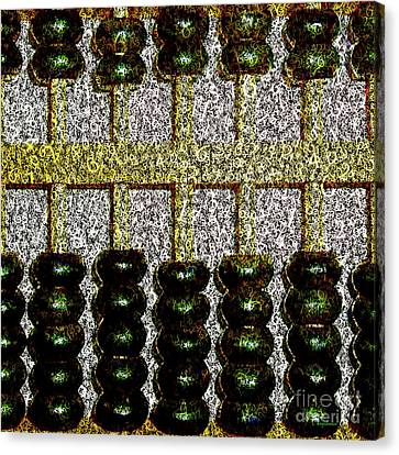 Canvas Print featuring the photograph Crunching Numbers On An Ancient Chinese Abacus 20161115 Square by Wingsdomain Art and Photography
