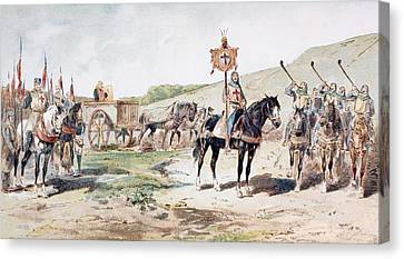 Crusaders On The March In The 11th Canvas Print