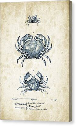 Crustaceans - 1825 - 07 Canvas Print by Aged Pixel