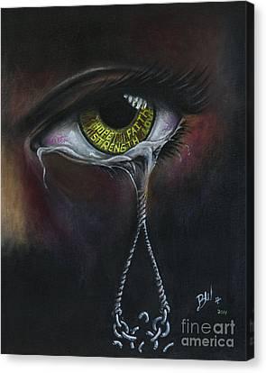 Cry No More Canvas Print