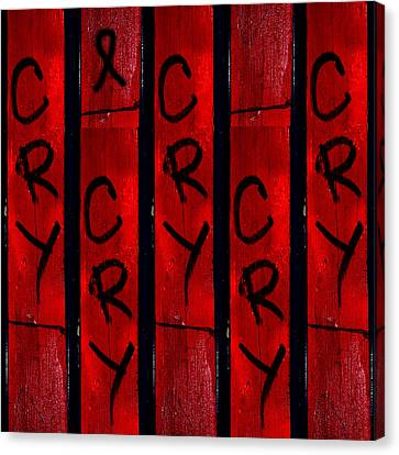 Cry With A Ribbon Canvas Print by Taylor Steffen SCOTT