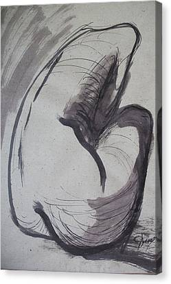 Crying Heart - Nudes Gallery Canvas Print by Carmen Tyrrell