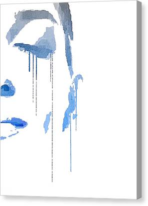 Crying In Pain Canvas Print by ISAW Gallery