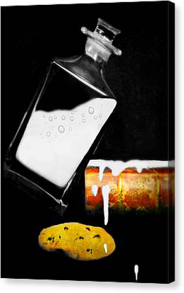 Canvas Print featuring the photograph Crying Over Spilled Milk by Diana Angstadt