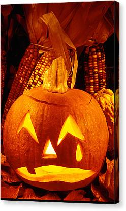 Crying Pumpkin Canvas Print by Garry Gay
