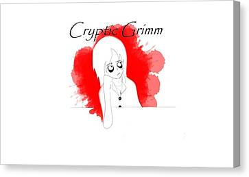 Cryptic Canvas Print - Cryptic Grimm by Leandro Perez