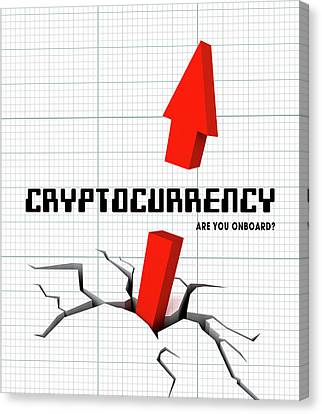 Future Tech Canvas Print - Cryptocurrency ..... Are You Onboard? by Daniel Hagerman
