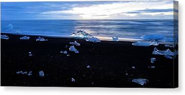 Canvas Print featuring the photograph Crystal Beach Iceland by Brad Scott