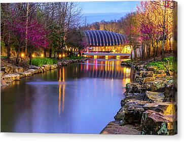Crystal Bridges Art Museum In Spring - Arkansas Canvas Print by Gregory Ballos