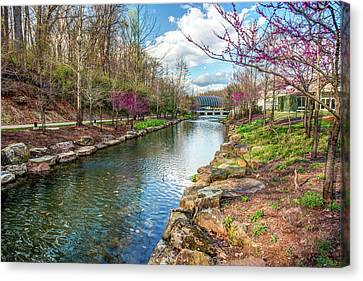 Crystal Bridges Museum River Trail  - Bentonville Arkansas Canvas Print by Gregory Ballos