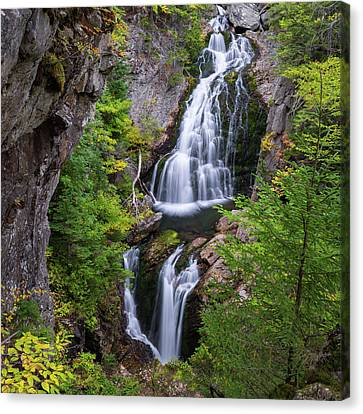 Waterfalls Canvas Print - Crystal Cascade Autumn Square by Bill Wakeley