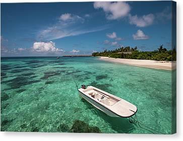 Crystal Clarity. Maldives Canvas Print by Jenny Rainbow