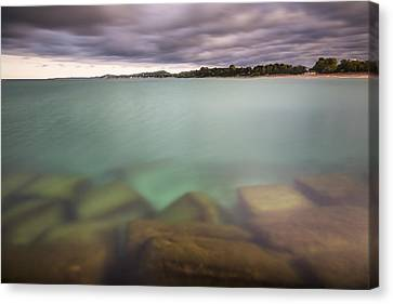 Canvas Print featuring the photograph Crystal Clear Lake Michigan Waters by Adam Romanowicz