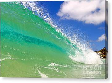Crystal Clear Wave Canvas Print by Paul Topp
