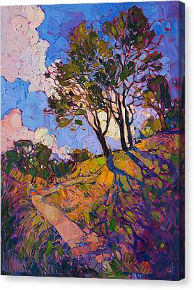 Canvas Print featuring the painting Crystal Clouds by Erin Hanson