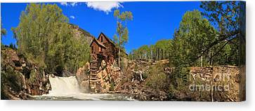 Crystal Colorado Historic Mill Canvas Print by Adam Jewell