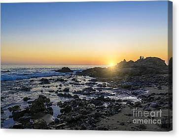 Canvas Print featuring the photograph Crystal Cove Sunset by Anthony Baatz