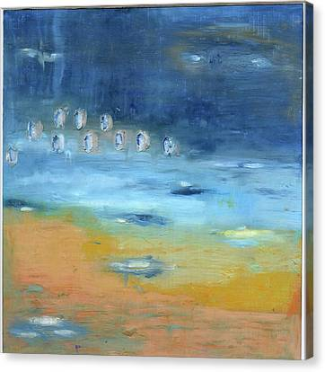 Canvas Print featuring the painting Crystal Deep Waters by Michal Mitak Mahgerefteh