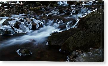 Crystal Flows In Hdr Canvas Print by Joseph Noonan
