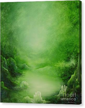 Crystal Forest Canvas Print by Hannibal Mane