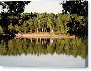 Canvas Print featuring the photograph Crystal Lake In Whitehall Mi by Ferrel Cordle